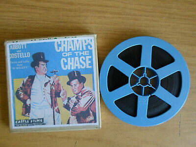 Super 8mm sound 1X200 CHAMPS OF THE CHASE. Abbott & Costello comedy classic.