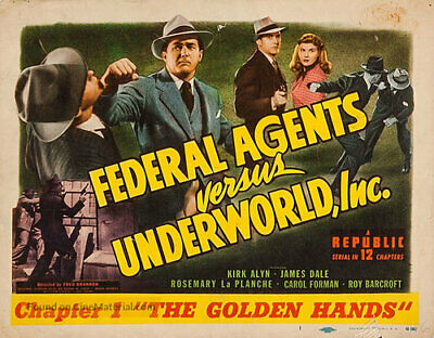 Super 8mm sound 1X50 FEDERAL AGENTS Vs UNDERWORLD  serial trailer. 1949 classic.