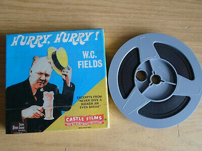 Super 8mm sound 1X200 HURRY HURRY. W.C. Fields classic comedy.