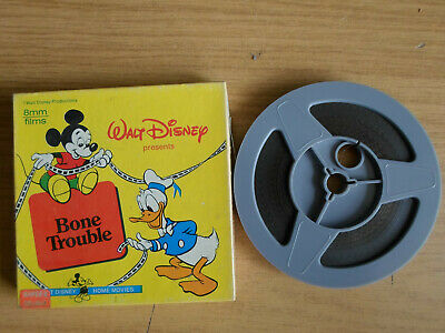 Super 8mm colour silent 1X200 BONE TROUBLE. Walt Disney cartoon.