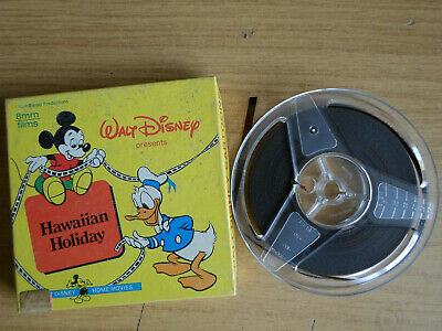 Super 8mm colour silent 1X200 HAWAIIAN HOLIDAY. Walt Disney cartoon.