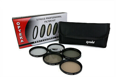 Opteka 58mm HD2 PRO 5 Piece Filter Kit (UV, CPL, FL, ND4 and 10x Macro Lens)