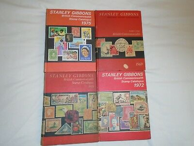 Stanley Gibbons British Commonwealth stamp catalogues 1969, 1971, 1972, 1975