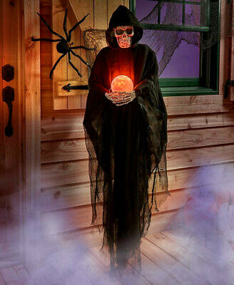 5 Ft Life Size Psychic REAPER Crystal Ball Haunted Scary Halloween Festive Decor