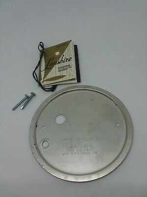 VINTAGE NOS LANSHIRE Synchronizing Clock Back Part With Screws And Cord