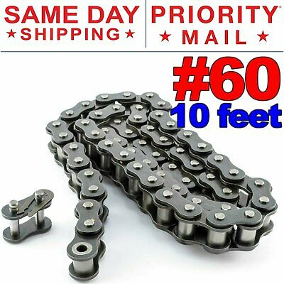 "#25 ROLLER CHAIN 100FT REEL W//15 Master Links NEW 1//4/"" PITCH 25R 25-1R 25 RIV"