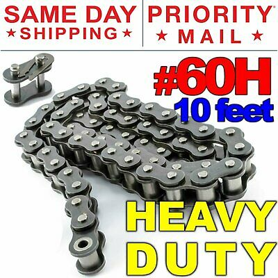 #120H Heavy Duty Roller Chain 10 Feet with 1 Connecting Link