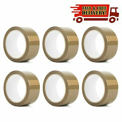 Heavy Duty Strong Brown Parcel Packing Tape Carton Sealing 48Mm X 66M Sellotape
