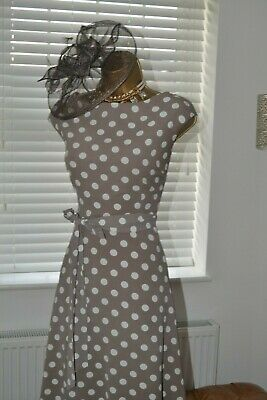 ~ WALLIS ~ Polkadot Dress Size 14 Suit Mother of Bride
