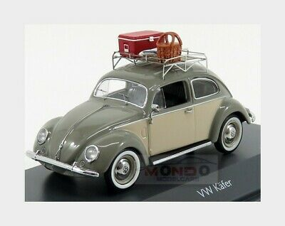 Volkswagen Beetle Kafer Picnic 1958 Grey Cream SCHUCO 1:43 450258500 Model
