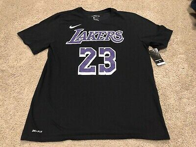 9926c5e78 NWT NEW MENS Nike Dri-FIT NBA Lebron James Los Angeles Lakers T-Shirt XL