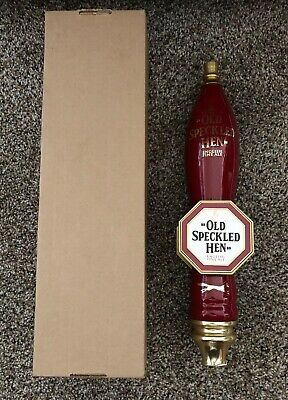 (L@@K) Old Speckled Hen Fine English Ale Beer Fox Red Tap Handle Game Room NEW