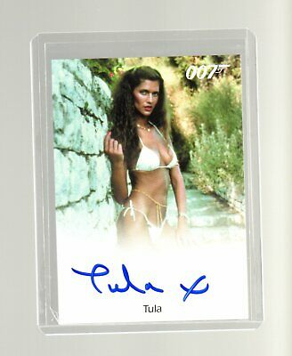 James Bond Archives Final Edition Tula Autographed card
