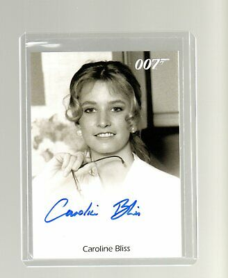 James Bond Archives Final Edition Caroline Bliss Autographed card