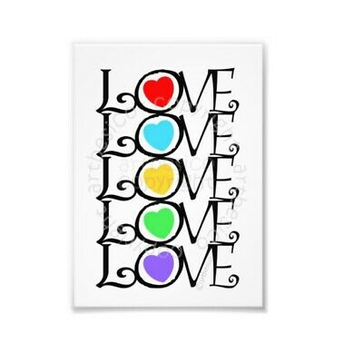 PAINTING TYPOGRAPHY ROMANTIC LOVE HEART DESIGN CALLIGRAPHY POSTER PRINT BMP10164