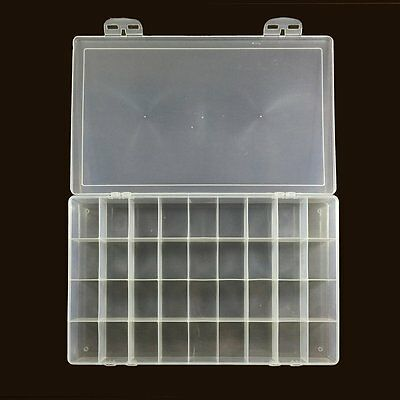 36-well Rectangular clear plastic Watercolor Palette Box, Jewelry Box Organizer