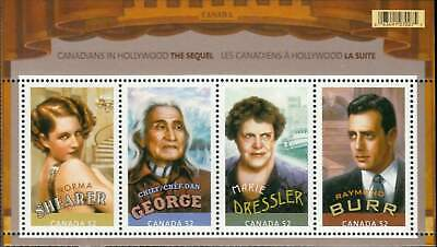 Canada Sc# 2279  CANADIANS IN HOLLYWOOD Souvenir Sheet BURR SHEARER 2008  MNH