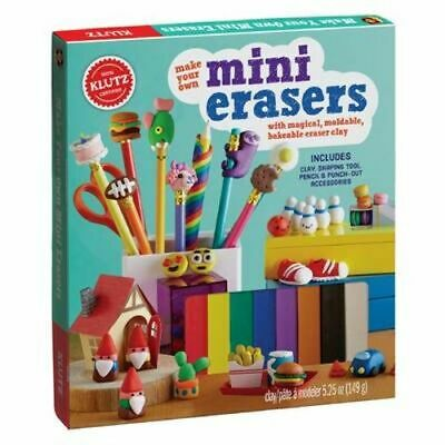 NEW Make Your Own Mini Erasers By Editors of Klutz Novelty Book Free Shipping