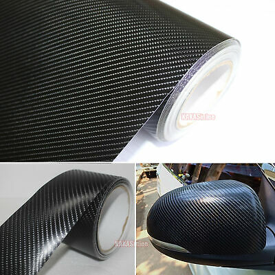 Self Adhesive Tape Vehicle 4D Black Texture Carbon Fiber Vinyl Wrap Sticker VL