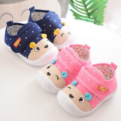Baby Boy Girl Newborn Crib Shoes Soft Sole Sneakers Infant Toddler Prewalkers US