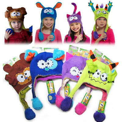 Infant Warm Wool Caps Baby Boys Girls Funny Cool Winter Spring Beanies Headwears