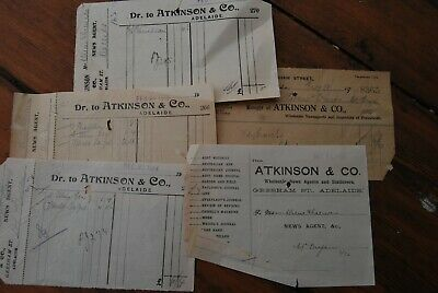 Old dockets Atkinson News Agents Gresham St Adelaide South Australia early 1900s