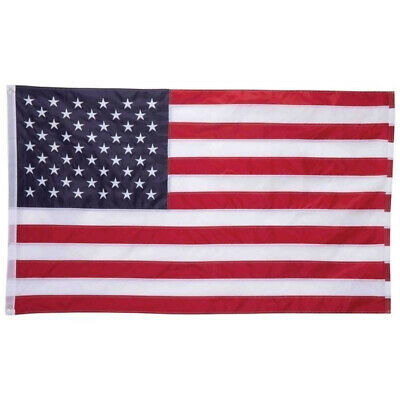 3'x5' ft Sewn Stripes & Stars American Flag with 2 Brass Grommets 90*150cm U.S.A