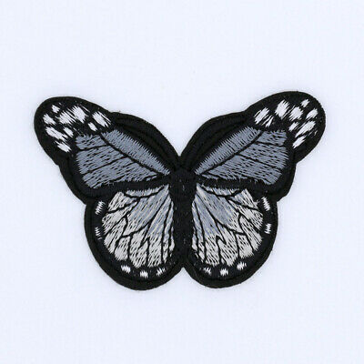 3/12 Pcs-Gray-Monarch Butterfly-Embroidered-iron on patches bulk,Applique