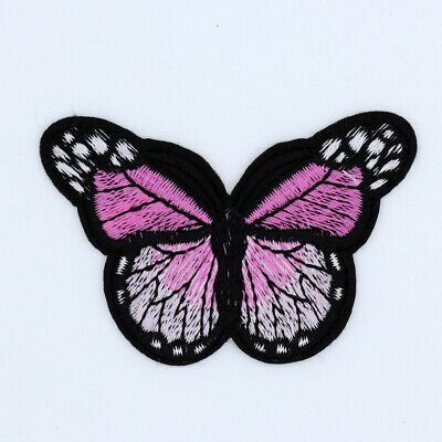 Pink Mini Small Monarch Butterfly Embroidered-Iron On Patches bulk/Sew Applique