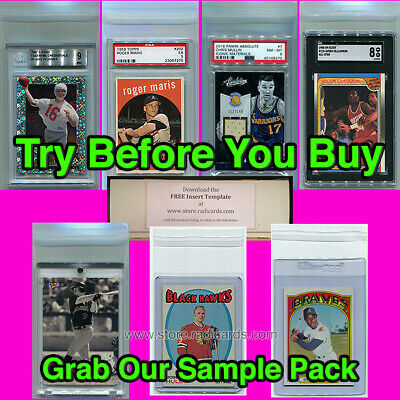 SAMPLE PACK - Fitted Bags Sleeves | Ultra Pro Cardboard Gold PSA BGS SGC BCW