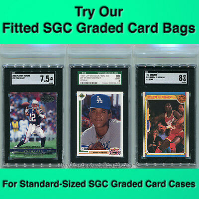 Fitted SGC Graded Card Bags Sleeves (100 - 1pk)