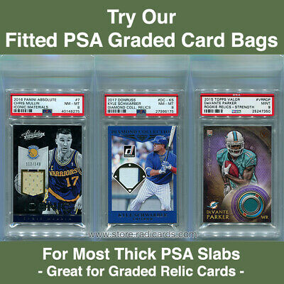 Fitted PSA Graded Card Bags for Thick Slabs (100 - 1pk)