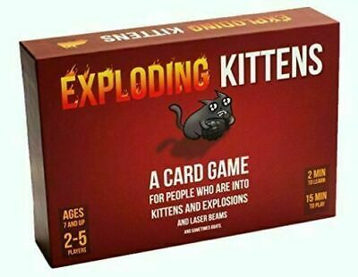 EXPLODING KITTENS Original Edition Card Party Family Game Goats NEW GIFT NEW