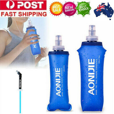 For AONIJIE 250/500ML Foldable Soft Flask TPU Squeeze Running Water Bottle