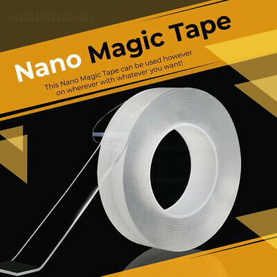 Magic Double-sided Grip Tape Traceless Washable Adhesive Gel Nano Invisible 1-5M
