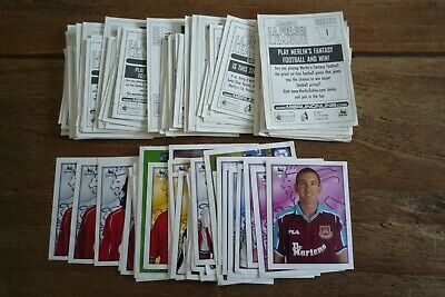 Merlin Premier League 2001 Football Stickers - nos 1-200 - Pick Stickers Needed!
