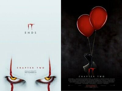 STEPHEN KING IT CHAPTER TWO 27x40 DS Original Theater Poster LOT PENNYWISE 2 SET