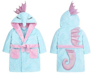 Childrens / Girls Novelty Seahorse Dressing Gown with Fins and Tail ~ 2-13 Years