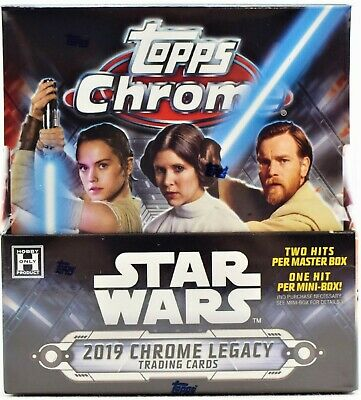 2019 Topps Star Wars Chrome Legacy FACTORY SEALED Hobby Box Free S&H