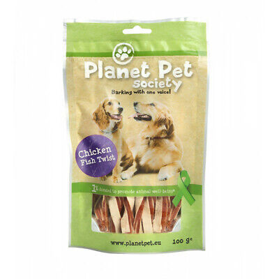 Planet Pet Snack Twist Pollo y Pescado 100gr