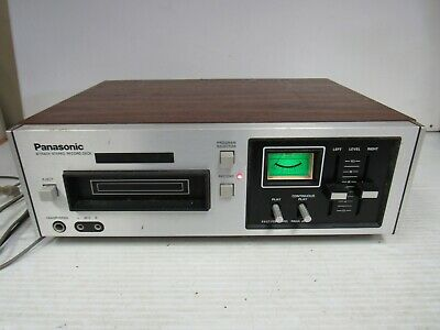 Vintage Panasonic RS-805US 8 Track Player/Recorder Tested  5106K