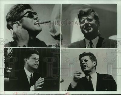 "1983 Press Photo ""JFK"" TV special with Peter Jennings; President John F Kennedy"