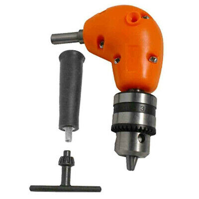 Right Angle Drill Attachment Chuck Adapter Electric Power Cordless 3/8inch Tool