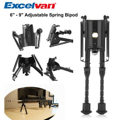 Excelvan 8/'/'-10/'/' 9/'/'-13/'/' 6/'/'-9/'/' Adjustable Length Spring Bipod for Hunting