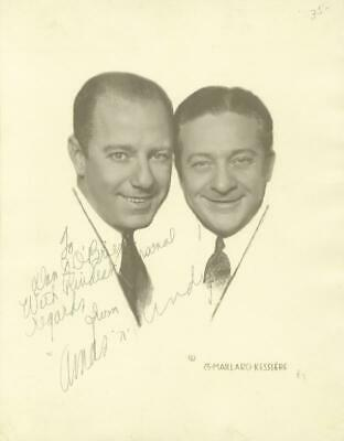 The Amos 'N' Andy Radio Cast - Autographed Inscribed Photograph With Co-Signers