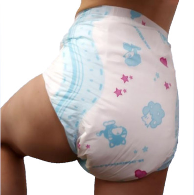 Adult Diaper Plastic Backed Nappy ABDL 2 Pack SUPER ABSORBANT