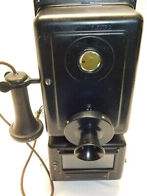 Antique WESTERN ELECTRIC Original Wall Telephone - (Missing Dial)