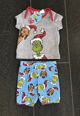 BNWT PETER ALEXANDER The Grinch PJ Set, Baby 0000 Size 0-3months  RRP$49.95