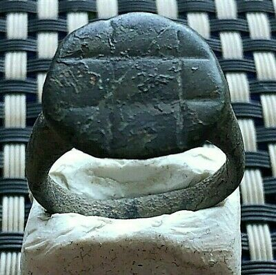 Ancient Roman Bronze Ring Circa 200-500 Ad Very Rare