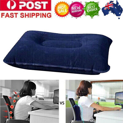 Portable Inflatable Pillow Camping Hiking Head Neck Air Cushion Travel